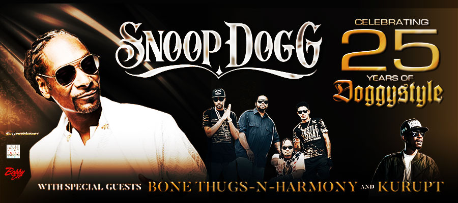 Snoop Dogg with special guests Bone Thugs-N-Harmony and Kurupt